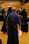 Sensei Craig judging at the 2005 Austin taikai (thanks for the pic, Peter)