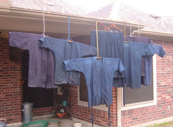 Keiko Gi Drying Outside